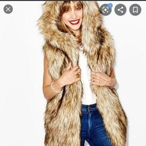 Aritzia sunday best fur vest